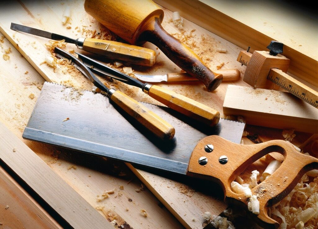 tools, carpenter, wood